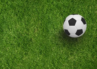 Composite image of soccer items