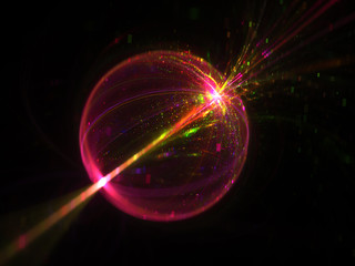 Shine Transparent Babble Background   - Fractal Art