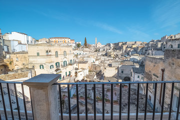 View from the balcony of Matera, Italy, Sassi di Matera