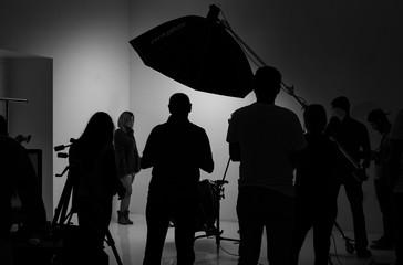 Silhouettes in the studio