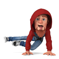 street dance boy cartoon
