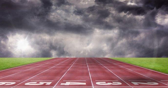 Composite image of athletics