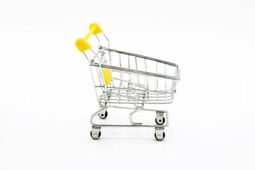 shopping cart isolated on white background.