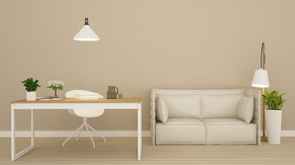 living room in apartment - 3d rendring