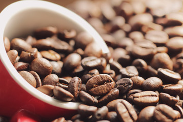 Coffee Beans vintage background