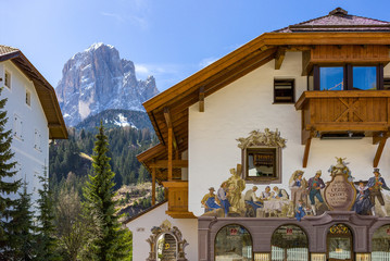 The picturesque landscapes of the Dolomites area