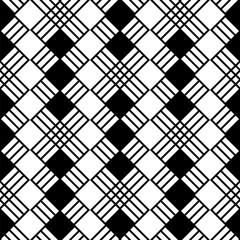 Seamless vector black and white geometric pattern.