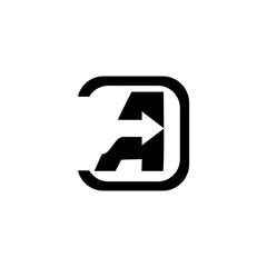 initial letter A black color