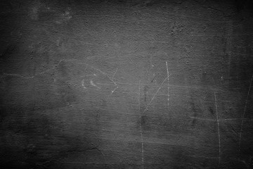 black abstract wall, dark putty texture as background