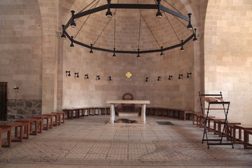 Altar at the Church of the Multiplication, Tabgha, Israel.