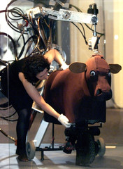 WORLD'S MOST SOPHISTICATED ROBOTIC COW AT EXHIBITION IN SYDNEY.