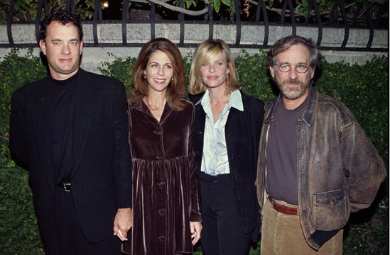 """Four of the most prominent members of Hollywood arrive for the premiere of the new play """"Four Dogs a.."""