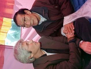 HUNGER STRIKE FOR TIBET IN GENEVA.