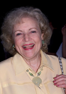ACTRESS BETTY WHITE AT THE WOOD PREMIERE.