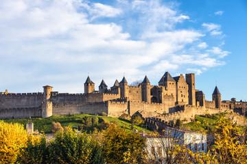 Cité de Carcassonne vue du pont neuf,Languedoc-Roussillon, Aude, Occitanie, France