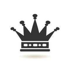 Crown Icon in trendy flat style. Monarchy authority and royal symbols. Monochrome vintage antique icons. Crown symbol for your web site design, logo, app, UI. Vector illustration, EPS10