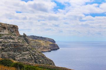 Cliffs at south of Malta