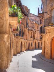 Narrow medieval street in Spain