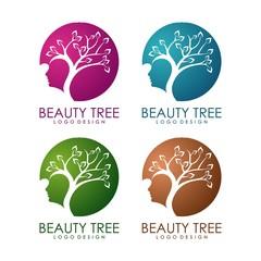 Beauty Tree Design Logo Template