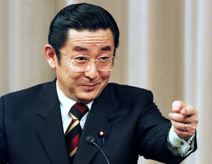 Japan's Prime Minister Ryutaro Hashimoto answers a question during a news conference at his official..