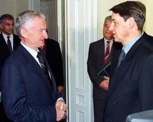 RUSSIAN DEPUTY PM AVDEYEV AND YUGOSLAV FM JOVANOVIC MEET IN BELGRADE.