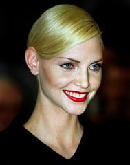German top model Nadja Auermann smiles during a reception at Berlin's city hall, June 8. Nadja Auerm..