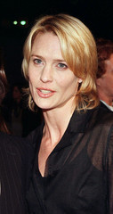 "Actress Robin Wright Penn arrrives at the premiere of her latest film, ""Message in a Bottle"" Februar.."