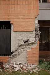Structural damage for an earthquake in Chile