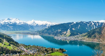 Alps panorama of Zell am See nature