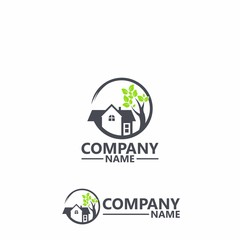 Home And Tree Logo Template