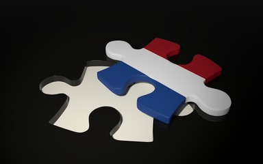 Netherlandish Flag Puzzle Piece - Flag of Netherlands.