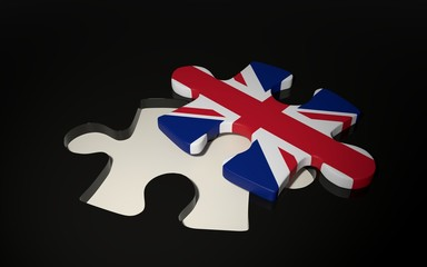 British Flag Puzzle Piece - Flag of Great Britain.