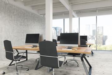 Open office with pillars