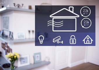 Home automation system App Interface