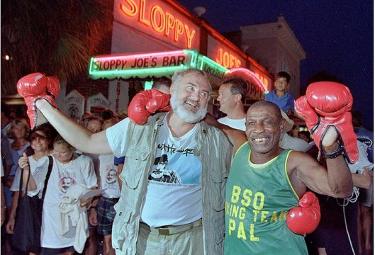 FILE PHOTO OF KERMIT FORBES WITH BILL FOUNTAIN IN KEY WEST.