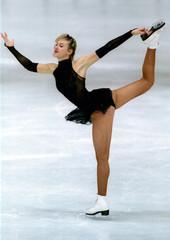German Marina Kielmann performs her Free Skating Program at the European Figure Skating Championship..