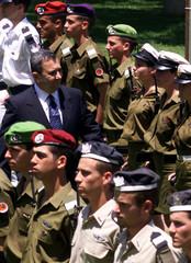 EHUD BARAK TAKES OVER TEL AVIV DEFENSE MINISTRY.
