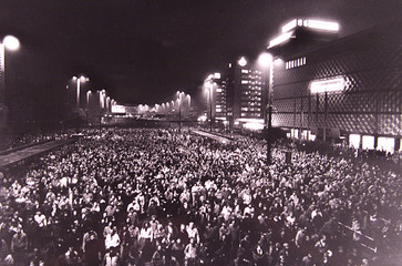70,000 PEOPLE TOOK PART AT A DEMONSTRATION AGAINST THE COMMUNIST REGIME IN LEIPZIG.