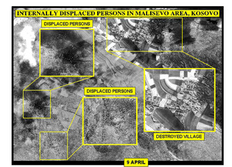 AERIAL PICTURE RELEASED BY NATO SHOWS WHAT NATO DESCRIBED AS INTERNALLY DISPLACED PERSONS IN ...