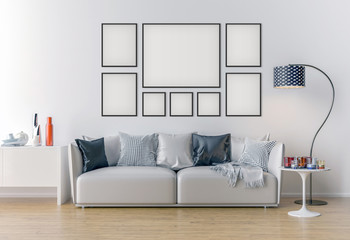 Picture frame interior set mockup
