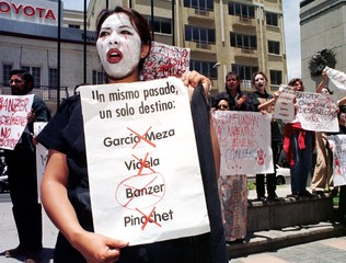 FAMILIES OF VICTIMS OF BANZER GOVERNMENT DEMAND JUSTICE.