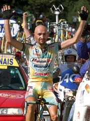 ITALIAN MARCO PANTANI WINS THE 11TH STAGE.