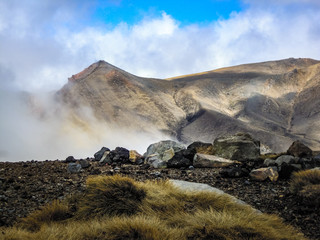 Red Crater, Alpine Crossing in New Zealand - Stock Image