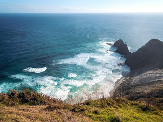 Idyllic nature of Ahipara, New Zealand - Stock Image