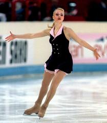 Maria Butyrskaya of Russia performs her short skating programme at the Champions Series figure skati..