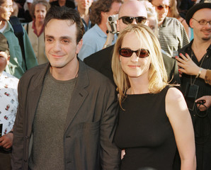 Actress Helen Hunt arrives with actor Hank Azaria at the premiere of the new TriStar Pictures' film ..