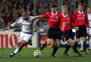 DALMAT OF MARSEILLE AGAINST IRWIN OF MANCHESTER UNITED.