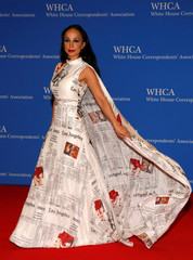 Radcliff arrives on the red carpet at the White House Correspondents' Association dinner in Washington