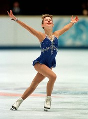 Tara Lipinski of United States performs during her Olympic women`s figure skating free programme at ..