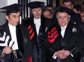 TURKISH PRESIDENT DEMIREL AND ROMANIAN PRESIDENT CONSTANTINESCU.